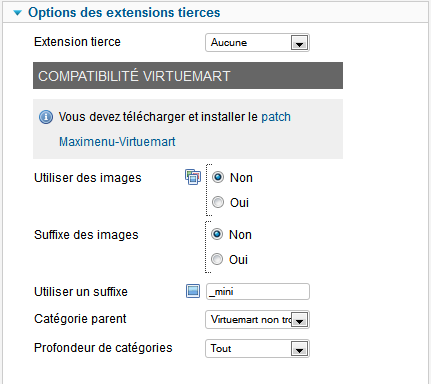 options extensions tierces maximenu fr