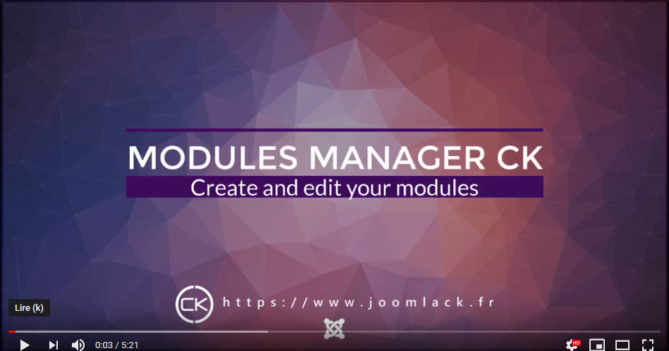 video modules manager for joomla