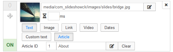 slideshowck slidesmanager options text article