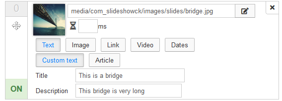slideshowck slidesmanager options text custom
