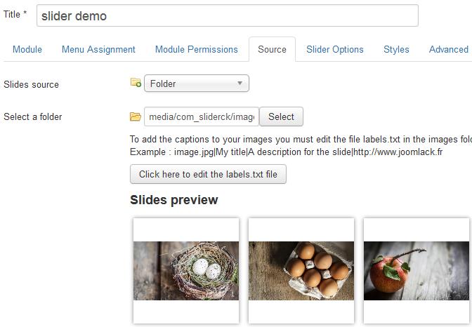 Slider CK - A responsive content slider for Joomla